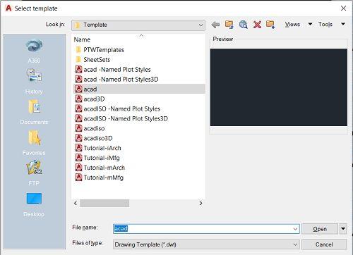 دستور ساخت پنجره اتوکدی جدید Ctrl + N